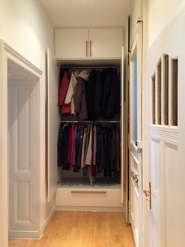 Garderobenschrank raumhoch