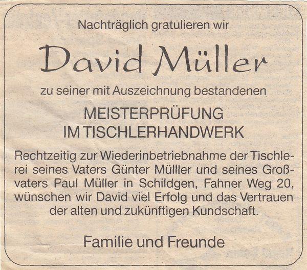 Anzeige 1995